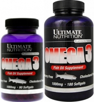 UltN Omega 3 - 180 softgels